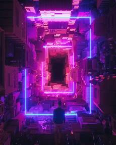 Neon Retro Cyberpunk Wallpaper by Artstation Is The Leading Showcase Platform For