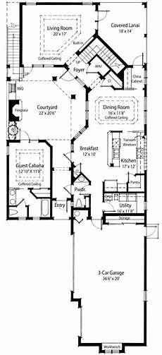 single story house plans with courtyard plan 33040zr energy efficient courtyard house plan with
