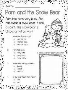 winter worksheets for 1st grade 20148 winter free reading comprehension passages reading comprehension reading passages