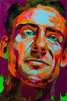 explosive colorful portraits paintings figurative
