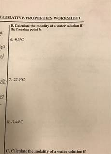 solved lligative properties worksheet b calculate the mo chegg com