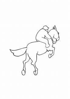 Ausmalbilder Springende Pferde Ausmalbild Springendes Pferd Kostenlos Ausdrucken