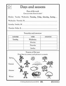 worksheets seasons and days of the week 14784 1st grade math worksheets days and seasons greatschools