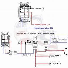 6 rocker switch panel car marine boat circuit led breaker voltmeter 12 24v ebay