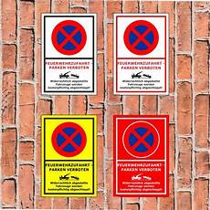 Parken In Feuerwehrzufahrt - schild feuerwehrzufahrt parken verboten widerr ab