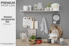 kitchen accessories by mockups design bundles