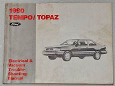 electric and cars manual 1990 ford e series security system 1990 ford tempo mercury topaz electrical vacuum troubleshooting manual evtm 90 ebay