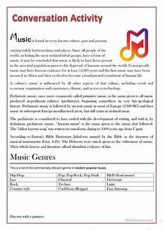 conversation activity music worksheet free esl printable worksheets made by teachers