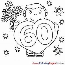 Ausmalbilder Geburtstag Opa 66 60 Years Bouquet Children Happy Birthday Colouring Page