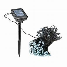 greenlighting 100 light 39 ft solar powered integrated led white christmas outdoor string