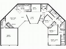 u shaped house plans single level contemporary style house plan 3 beds 2 5 baths 2294 sq