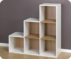meuble casier en escalier 6 cubes de rangement escalier blancs travail