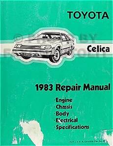 car repair manual download 1984 toyota celica on board diagnostic system 1983 toyota celica repair shop manual original