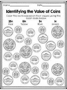 money identification worksheets 2193 identifying coins coloring sheets distance learning money worksheets money math identifying