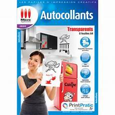 Micro Application Transparent Autocollant A4 5091 Papier