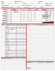 mutants and masterminds character sheet in 2019
