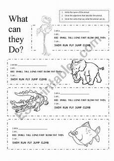 animal worksheets description 13834 describing animals esl worksheet by kirstyjay