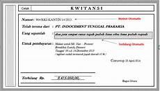 bentuk dan contoh kwitansi pembayaran serta fungsi dan