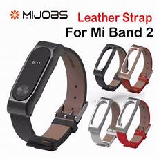 Mijobs Leather Bracelet Replacement Xiaomi Miband by Mijobs Leather For Xiaomi Mi Band 2 Bracelet For