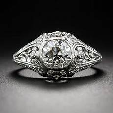 85 carat antique platinum diamond engagement ring