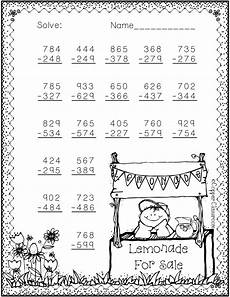 subtraction with regrouping worksheets summer 10707 3 nbt 2 summer themed 3 digit subtraction with regrouping math resources school worksheets math
