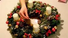adventskranz dekorieren kreative ideen