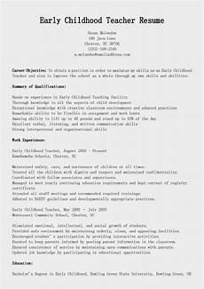 resume objective for early childhod teacher resume sles early childhood teacher resume sle