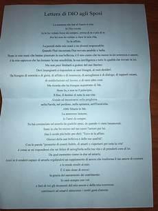 lettere per un matrimonio lettera di dio agli sposi prima delle nozze forum