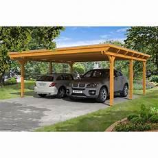 Holz Carport Kaufen - skan holz carport emsland 613 cm x 604 cm eiche hell