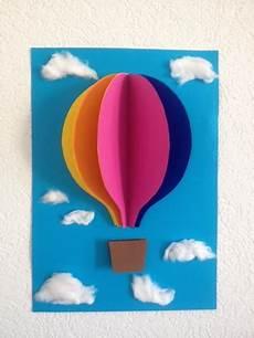 3d bilder basteln bastelt bild f 252 rs kinderzimmer heissluftballon 3d