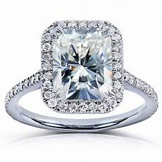forever brilliant radiant cut moissanite diamond engagement ring 3 carat ctw ebay