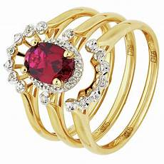 revere 9ct gold created ruby and diamond bridal ring 7237924 argos price tracker