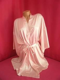 secret kimono robe soft satin size o s light pink