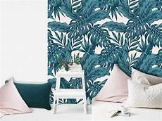 papier peint adh 233 sif palmeraie bleu paon autocollant et