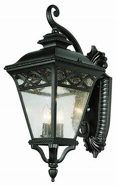 three light black clear seeded glass wall lantern traditional outdoor wall lights and