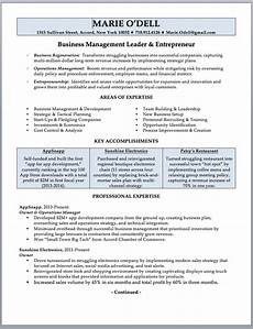 business owner resume sle writing guide rwd