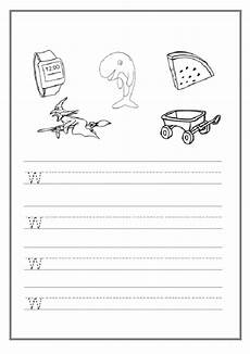 trace the lowercase letter w worksheet preschool crafts