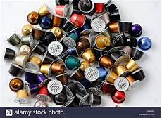spent or used empty nespresso capsules coffee capsules