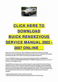 free online car repair manuals download 2007 buick buick rendezvous service manual 2002 2007 online by cycle soft issuu