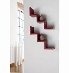 mensole metallo mensola laddy da parete a forma di scala gradino in legno