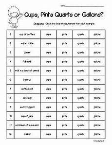 liquid measurement worksheets grade 3 1675 liquid volume capacity cups pints quarts or gallons measurement worksheet liquid volume