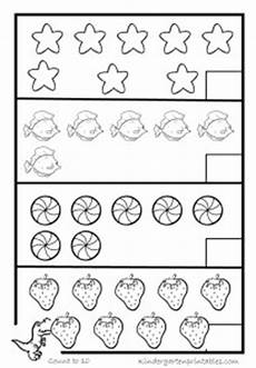 counting objects to 10 worksheets kindergarten printables