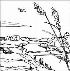 mann am fluss ausmalbild malvorlage landschaften
