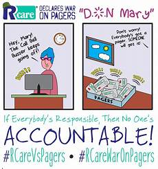 non responsable rcare war on pagers if everybody is responsible no one