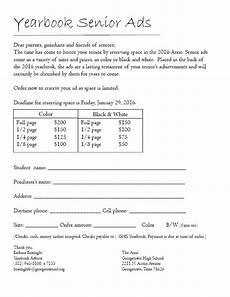the talon yearbook senior ads order form