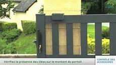 installation d un portail coulissant installation d un portail coulissant par logis et