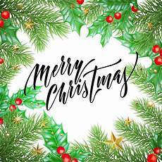 merry christmas holiday drawn quote calligraphy greeting card background template vector