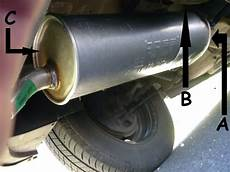 pot echappement 206 peugeot 206 remplacement tuyau d 233 chappement reportage photo et description des r 233 parations