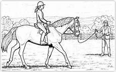 springreiten reiterin ausmalbilder pferde