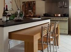 ilot table cuisine ilot cuisine avec table escamotable